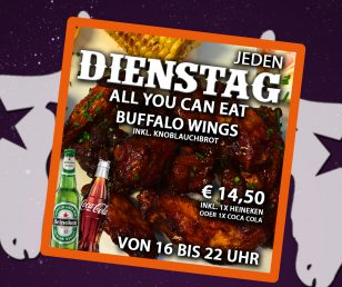 Dienstag - All you can eat wings