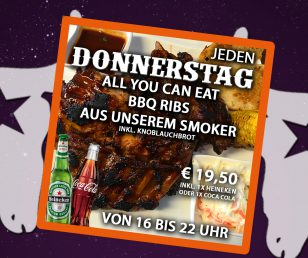 Donnerstag - All you can eat Ribs